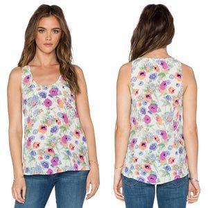 Joie Rain B Floral Silk Tank L